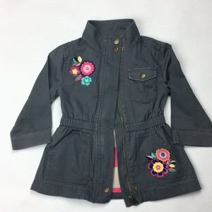HANNA ANDERSSON floral embroidered jacket